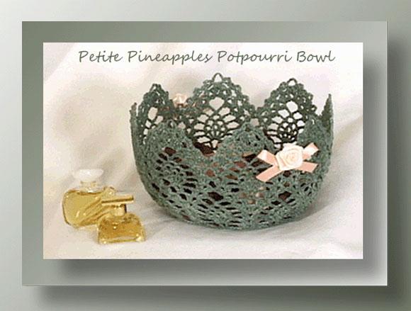 Petite Pineapples Potpourri Bowl <br /><br /><font color=