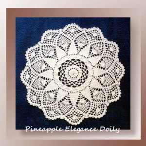 Pineapple Elegance Doily - pattern for a textured pineapple doily