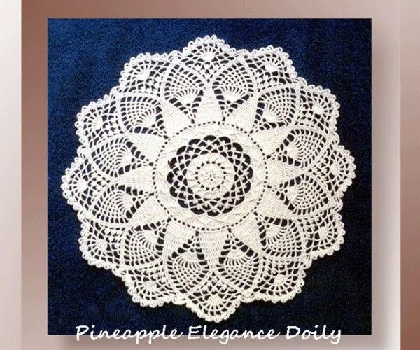 Pineapple Elegance Doily  <br /><br /><font color=