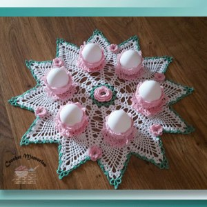 Easter Egg Teacup Doily
