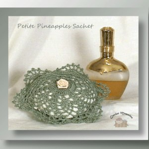 Petite Pineapple Sachet - Crochet pattern for a petite pineapple sachet - CrochetMemories.com