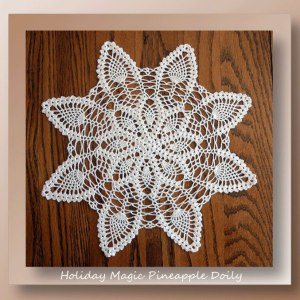 Holiday Magic Pineapple Doily - crochet pineapple doily with embellishments for every holiday - CrochetMemories.com