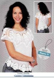 Blusa tejida a crochet fácil. Una blusa muy elegante tipo polera