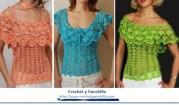 Blusas tejidas a gancho de moda. Usted puede usar de distintas maneras