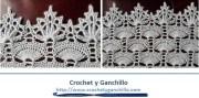 Puntilla Crochet. Una hermosa orilla para cualquier prenda tejida o de tela