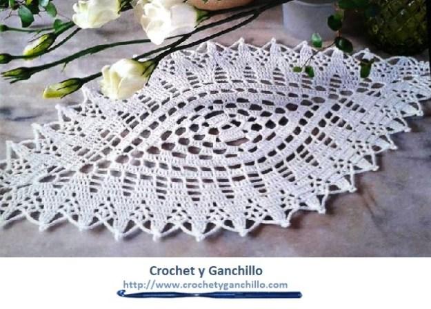 Camino de crochet para mesa