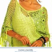Poncho a crochet para mujer