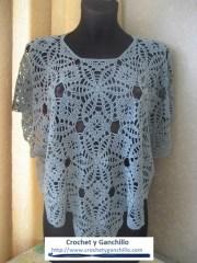 Ponchos para mujer. ♥ Encantador diseño para poncho tejido al crochet