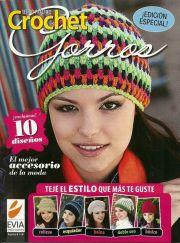 Revistas para tejer a crochet.Revistas con diseños de gorros al crochet