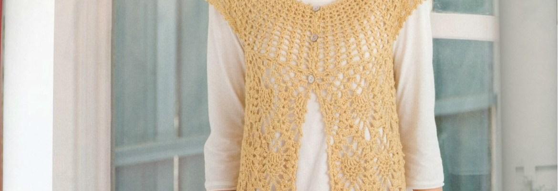 Chaleco ganchillo sin mangas patrón ♧ - Crochet y Ganchillo