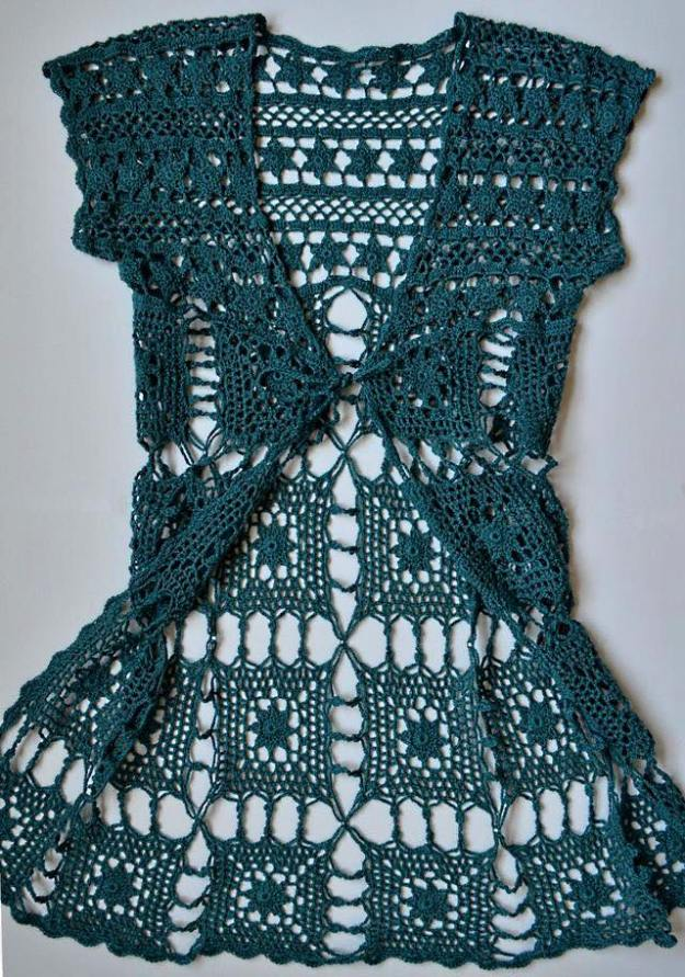 Patrón Bolero en Crochet - Crochet y Ganchillo