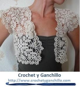 Bolero crochet simple y elegante1