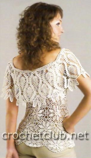Blusa Crochet Con Cuello Patrones Gratis Crochet Y Ganchillo
