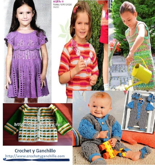 Esquemas de ropa de niña en ganchillo gratis