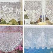 Colección de cortinas en ganchillo