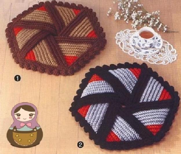 Agarra ollas a crochet paso a paso