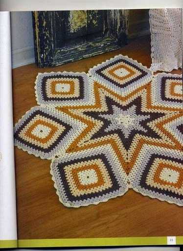 Alfombras tejidas a crochet