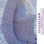 Blusa de crochet moderna
