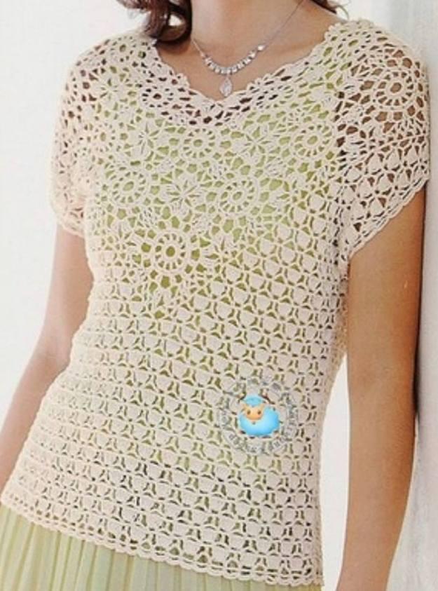 Camiseta manga corta – Crochet y Ganchillo