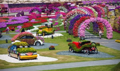 Miracle Garden in Dubai Land, Dubai. March 05,2013 photo by Ahmad Ardity