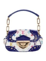 Crocodile Marilyn White Blue HandBag