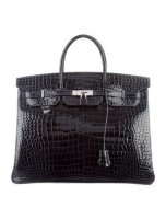Crocodile Birkin 40 Bag Shiny Porosus By Hermès