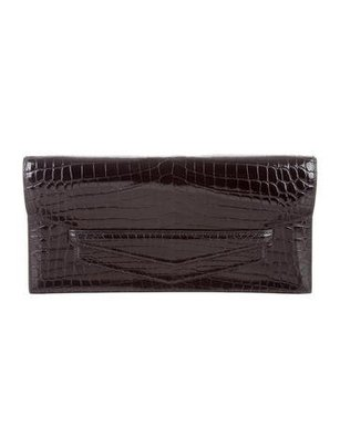 crocodile clutch bags