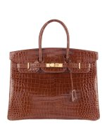 Crocodile Birkin 35 Bag Shiny Porosus By Hermès