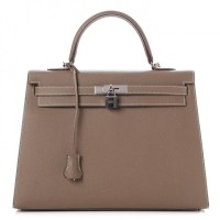 Kelly 35 Bag Etoupe Hermes Epsom Sellier