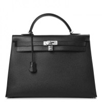 Kelly Bag 40 Hermes Epsom Sellier Noir Black
