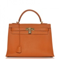 Kelly Bag 32 Hermes Togo Sellier Potiron