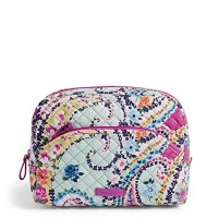 Vera Bradley Large Cosmetic, Signature Cotton, Wildflower Paisley