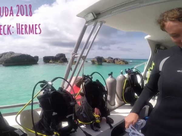 Dived & Survived The Bermuda Triangle -- Scuba Diving Shipwreck Hermes