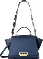 ZAC Zac Posen Eartha Iconic Soft Top Handle Floral Strap Navy