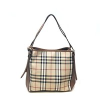 Burberry Small Leather Beige Brown Bag
