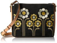 Orla Kiely Suede Embroidery Rosemary Bag