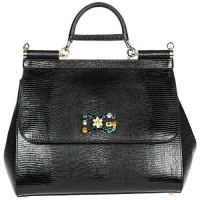 Dolce & Gabbana leather shopping bag purse