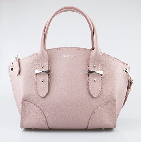 ALEXANDER McQUEEN Pink Small Leather Tote Handbag