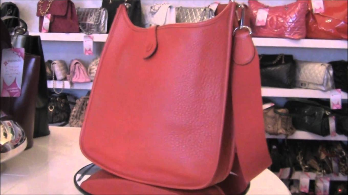 Authentic Hermes Evelyne PM Rouge Garance