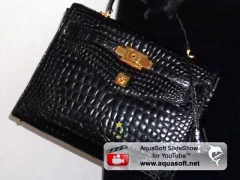 GIANNI VERSACE COUTURE CROCODILE HERMES KELLY BAG 1997
