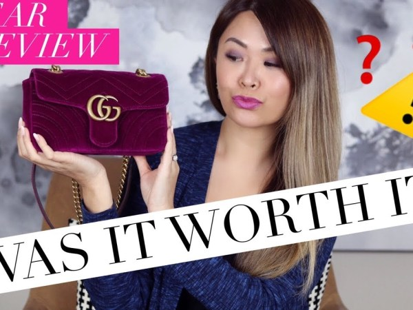 GUCCI MARMONT BAG - 1 YEAR WEAR & TEAR REVIEW + WHAT FITS INSIDE