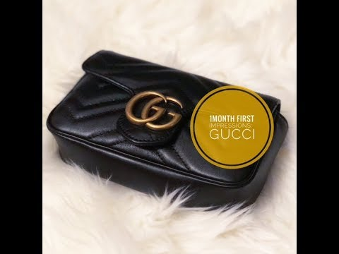 GUCCI SUPER MINI MARMONT BAG FIRST IMPRESSIONS!!!