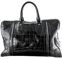 Gucci Boston Rare Shiny Black Crocodile Bag Leather Travel