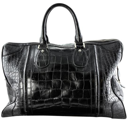 Gucci Shiny Black Crocodile Bag