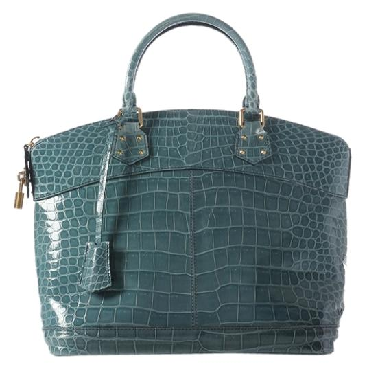 Louis Vuitton Blue Crocodile Bag