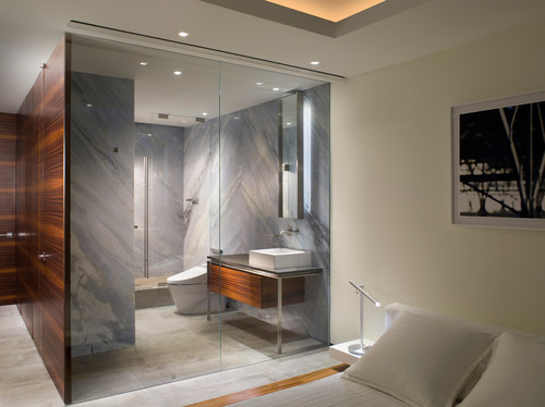 Stone Slab Shower Walls Means, No Seams And Easy Clean Up!