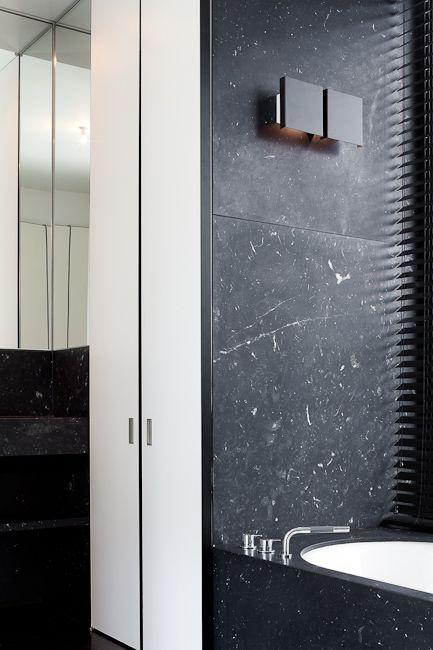 nero marquina shower