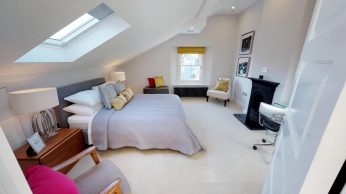 Apartment conversion bedroom, NW1