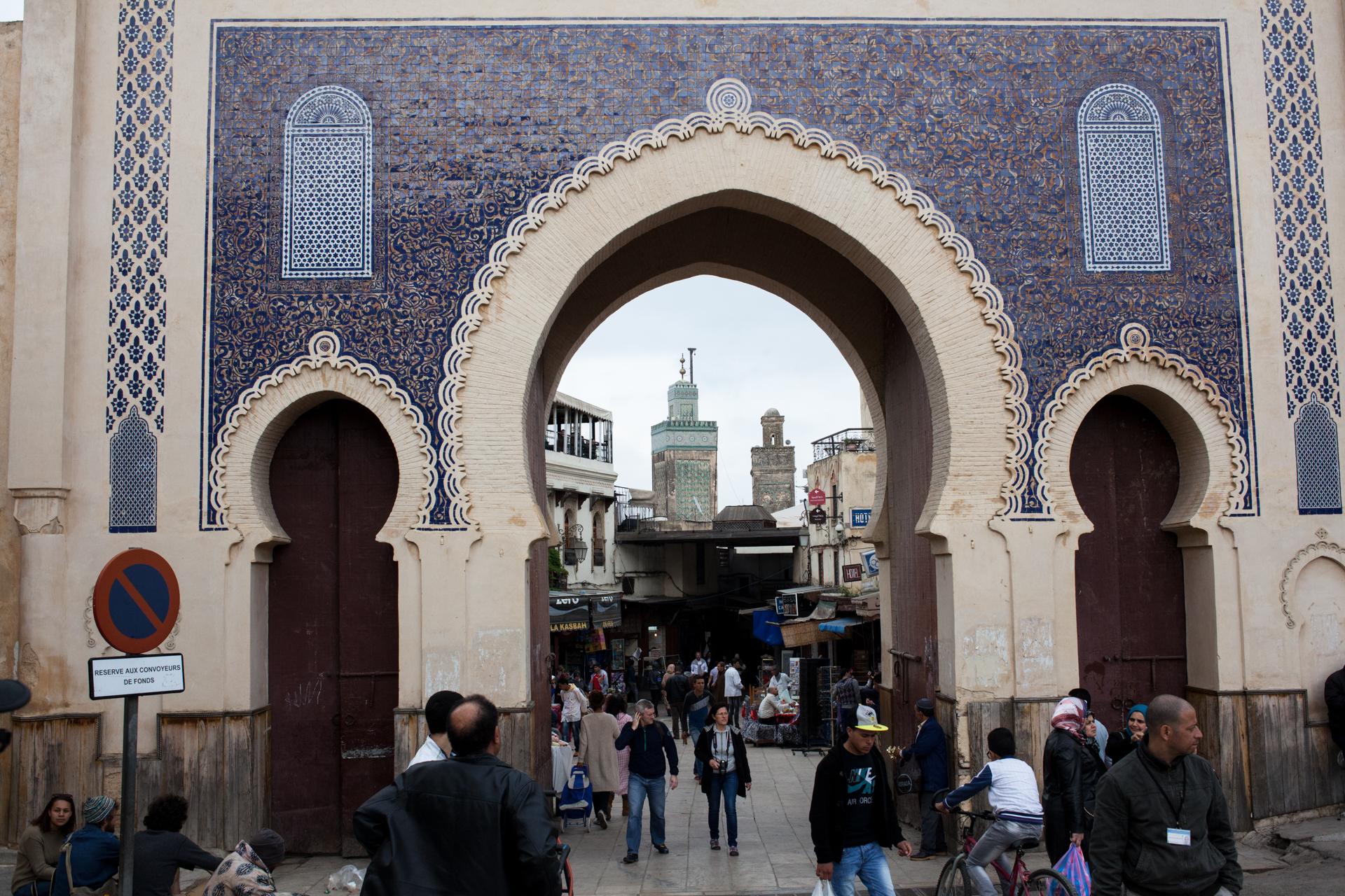 The entrance to the medina