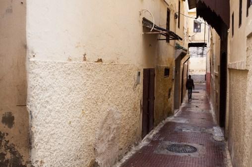 Walking in the alleys of Meknes